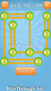 Linky Dots Walkthrough 6x6 Level 102