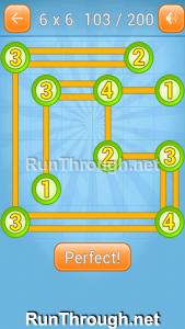 Linky Dots Walkthrough 6x6 Level 103