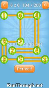 Linky Dots Walkthrough 6x6 Level 104