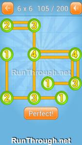Linky Dots Walkthrough 6x6 Level 105