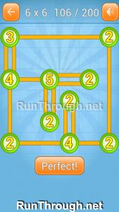 Linky Dots Walkthrough 6x6 Level 106