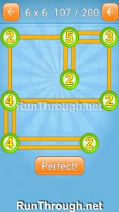Linky Dots Walkthrough 6x6 Level 107