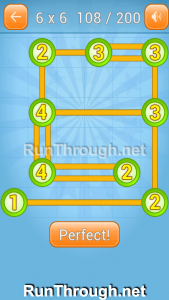 Linky Dots Walkthrough 6x6 Level 108