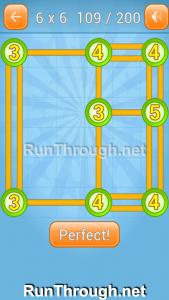 Linky Dots Walkthrough 6x6 Level 109