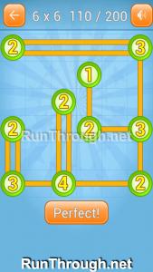 Linky Dots Walkthrough 6x6 Level 110