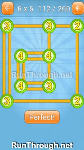 Linky Dots Walkthrough 6x6 Level 112