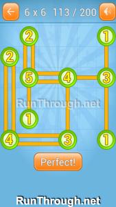 Linky Dots Walkthrough 6x6 Level 113