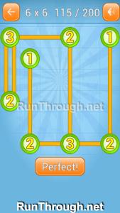 Linky Dots Walkthrough 6x6 Level 115