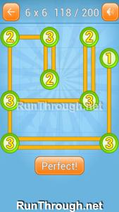 Linky Dots Walkthrough 6x6 Level 118