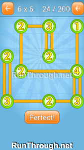 Linky Dots Walkthrough 6x6 Level 24