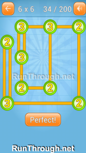 Linky Dots Walkthrough 6x6 Level 34