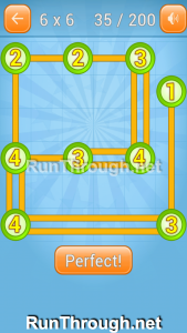 Linky Dots Walkthrough 6x6 Level 35