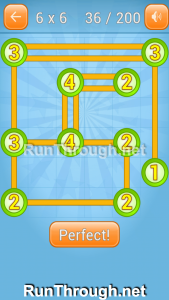 Linky Dots Walkthrough 6x6 Level 36