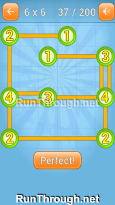 Linky Dots Walkthrough 6x6 Level 37