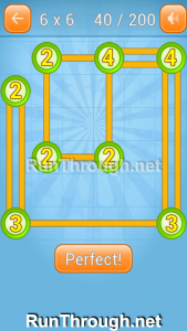 Linky Dots Walkthrough 6x6 Level 40