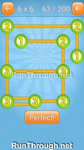 Linky Dots Walkthrough 6x6 Level 63