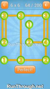 Linky Dots Walkthrough 6x6 Level 64