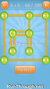 Linky Dots Walkthrough 6x6 Level 66