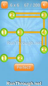 Linky Dots Walkthrough 6x6 Level 67