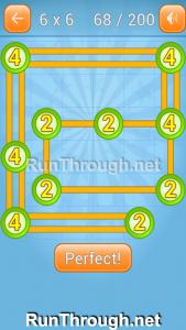 Linky Dots Walkthrough 6x6 Level 68