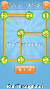 Linky Dots Walkthrough 6x6 Level 70