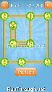 Linky Dots Walkthrough 6x6 Level 72