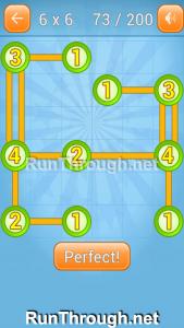 Linky Dots Walkthrough 6x6 Level 73