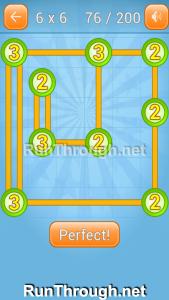 Linky Dots Walkthrough 6x6 Level 76