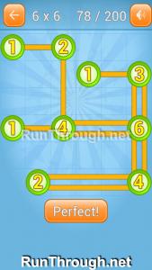 Linky Dots Walkthrough 6x6 Level 78
