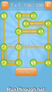 Linky Dots Walkthrough 7x7 Level 136