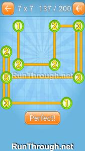 Linky Dots Walkthrough 7x7 Level 137