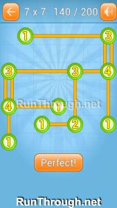 Linky Dots Walkthrough 7x7 Level 140