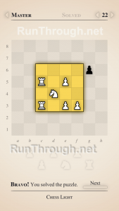 Chess Light Walkthrough Master Level 22