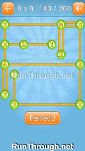 Linky Dots 9x9 Walkthrough Level 140