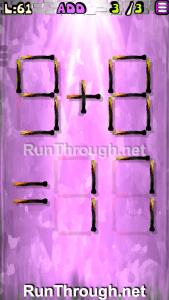 Matches Puzzle Walkthrough Episode 13 Level 61