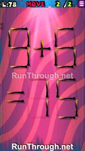 Matches Puzzle Walkthrough Episode 13 Level 78