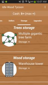 Idle Wood Tycoon Infinite Storage