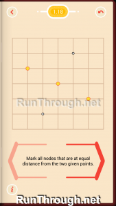 Pythagorea Walkthrough 1 Length and Distance Level 18