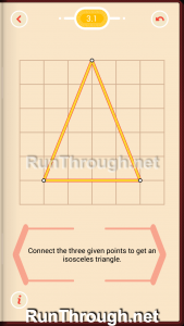 Pythagorea Walkthrough 3 Isosceles Triangles Level 1