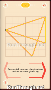 Pythagorea Walkthrough 3 Isosceles Triangles Level 10