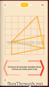 Pythagorea Walkthrough 3 Isosceles Triangles Level 11