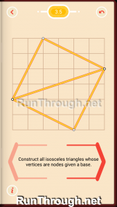 Pythagorea Walkthrough 3 Isosceles Triangles Level 5