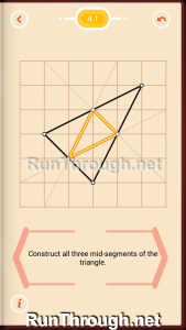 Pythagorea Walkthrough 4 Medians and Midsegments Level 1