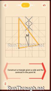 Pythagorea Walkthrough 4 Medians and Midsegments Level 11