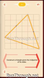 Pythagorea Walkthrough 4 Medians and Midsegments Level 4