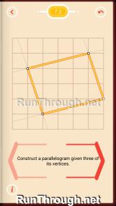 Pythagorea Walkthrough 7 Parallelograms Level 2
