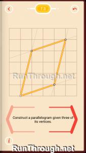 Pythagorea Walkthrough 7 Parallelograms Level 3