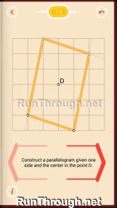 Pythagorea Walkthrough 7 Parallelograms Level 4