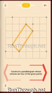 Pythagorea Walkthrough 7 Parallelograms Level 5