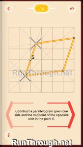 Pythagorea Walkthrough 7 Parallelograms Level 6